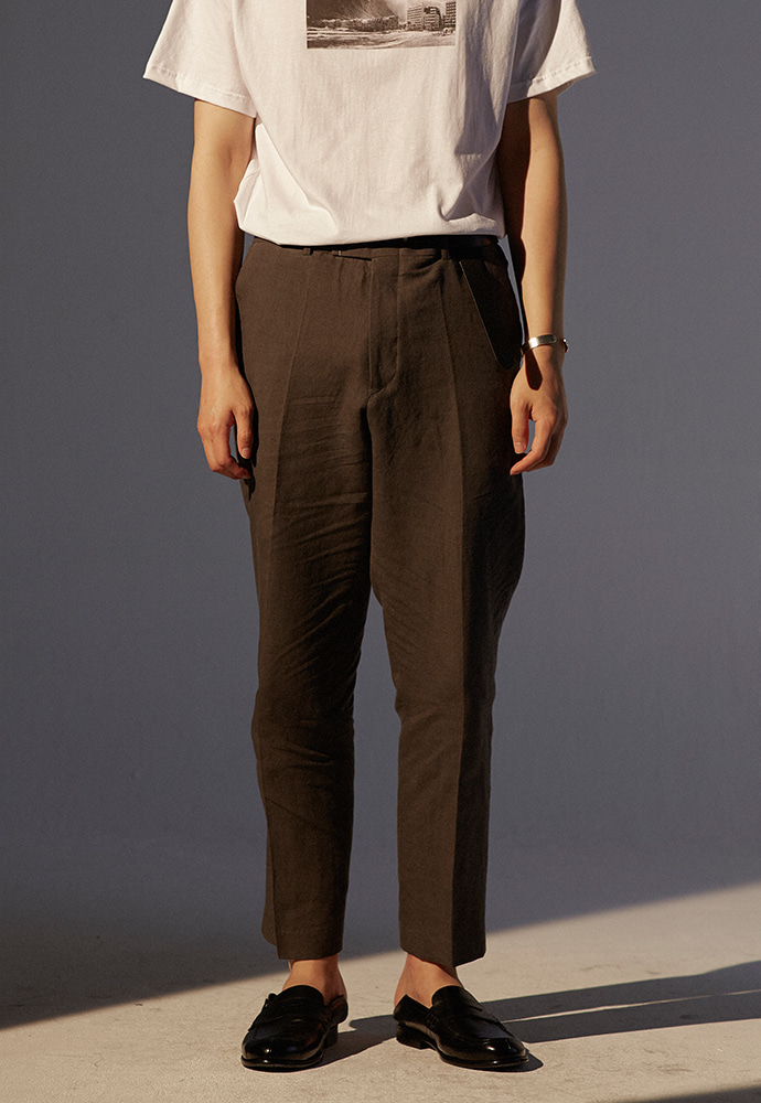 Louis Linen Trousers_ Charcoal