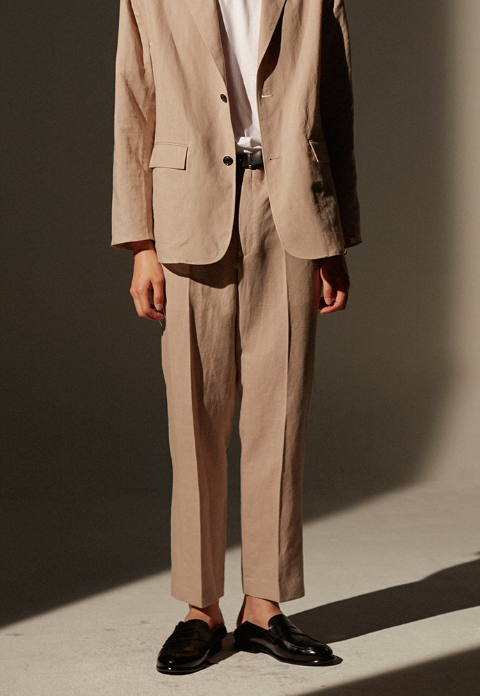 Louis Linen Trousers_ Sand