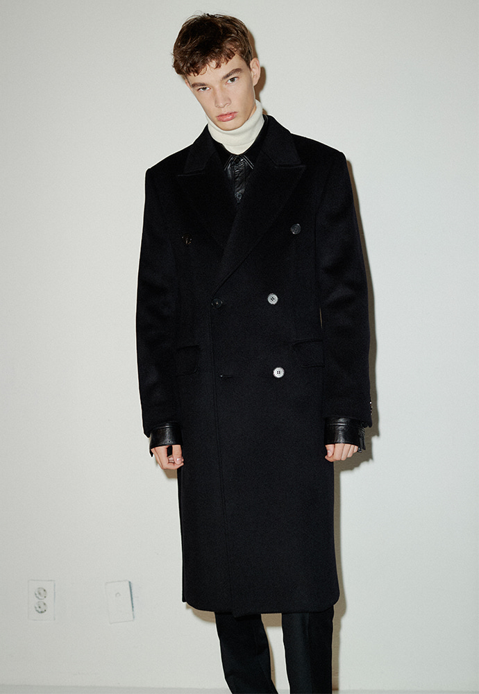 [김재영 착용] Crudo Cashmere Double Coat_ Black