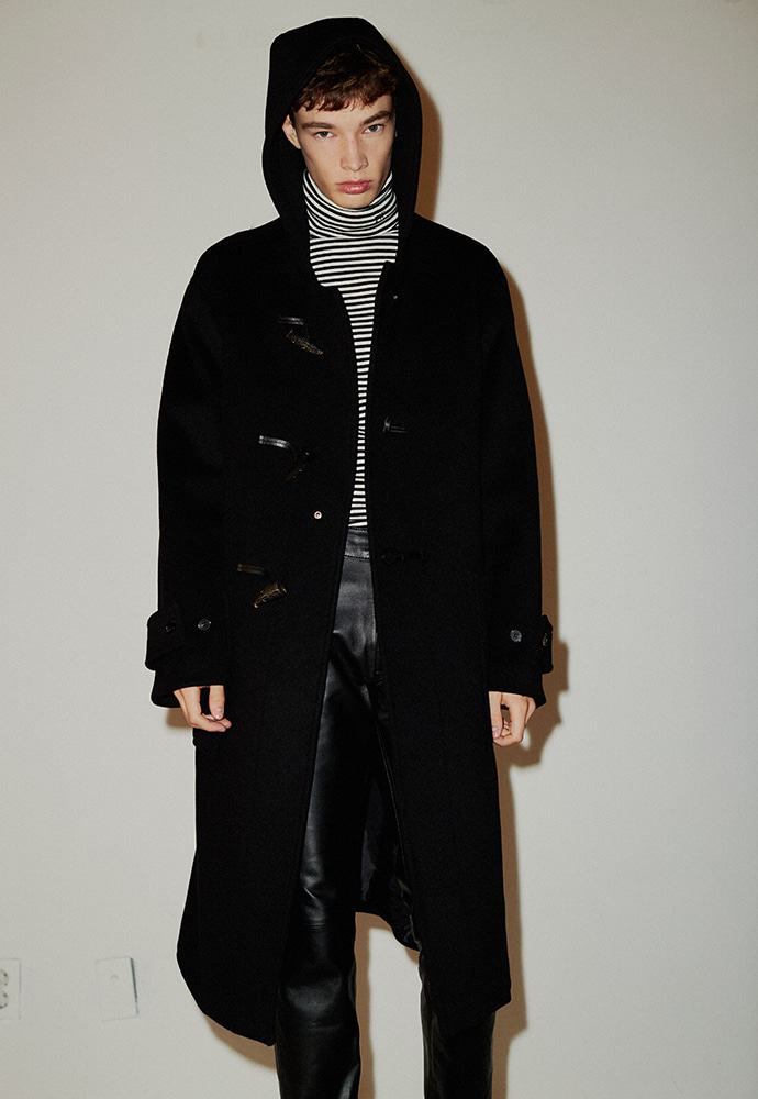 Crudo Cashmere Duffle Coat_ Black