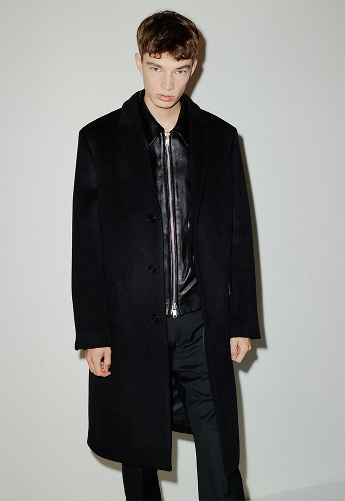 Row Cashmere Single Coat_ Black