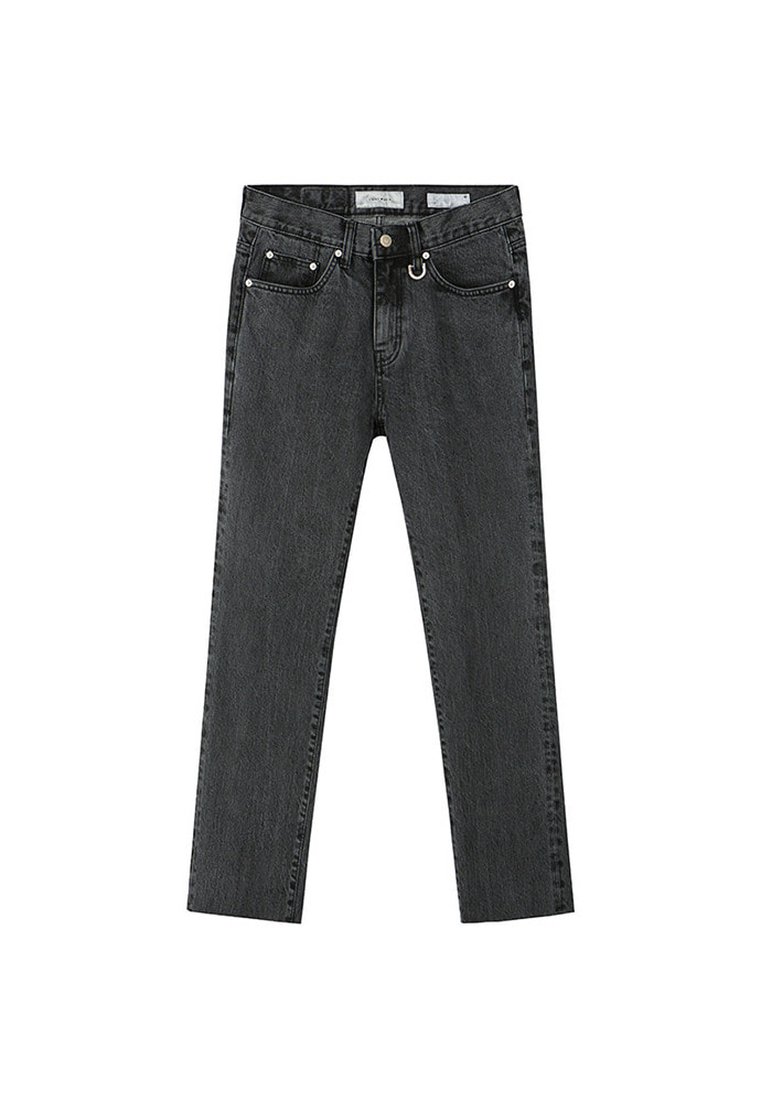 Musk Slim-Straight Jeans_ Black Washing