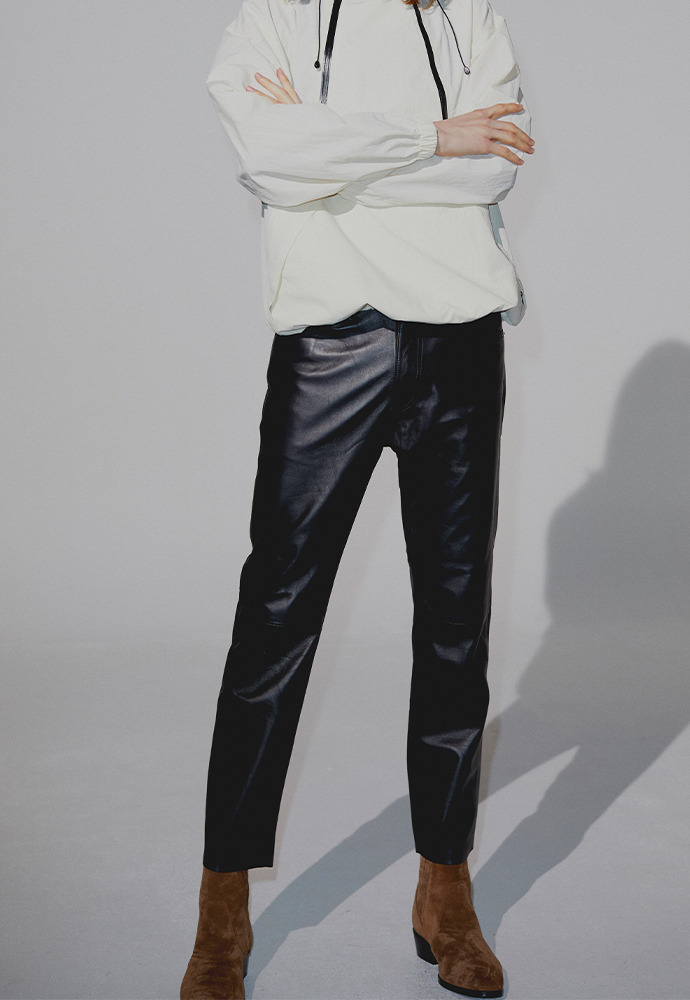 Port Leather Slim Trousers