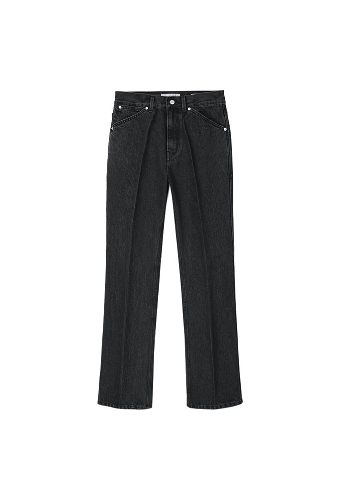 Jet Flared Denim Jeans_ Black Washing