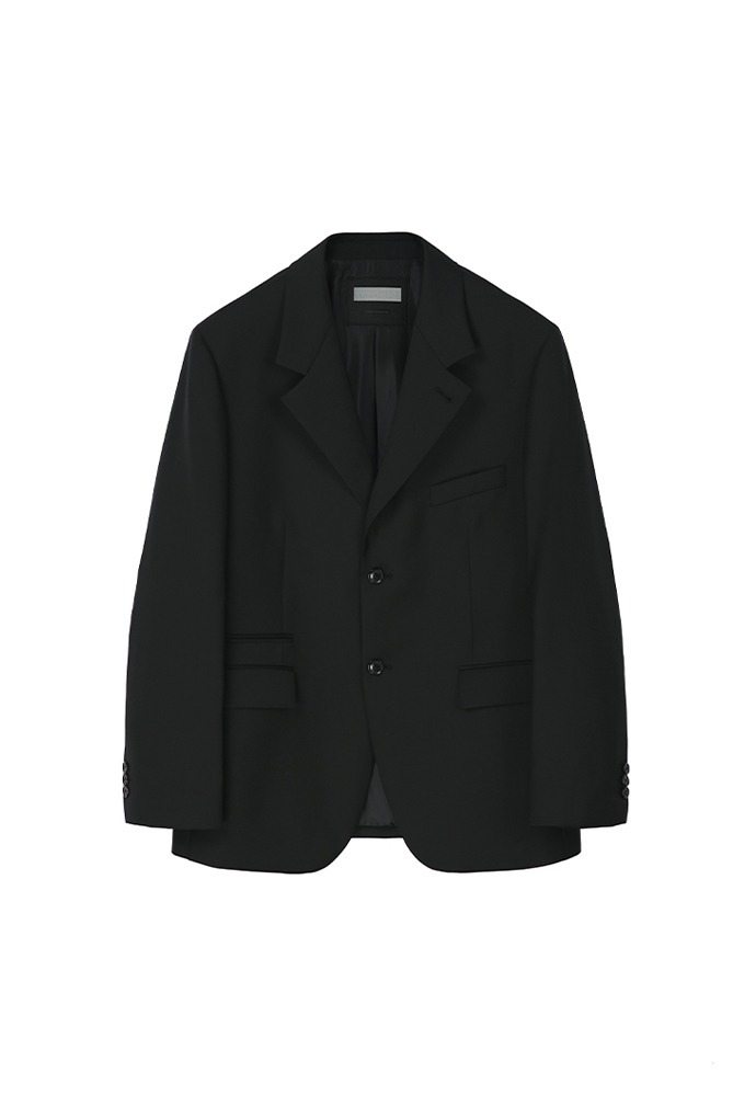 Sortie 2-button Blazer_ Black (Wool 100%)