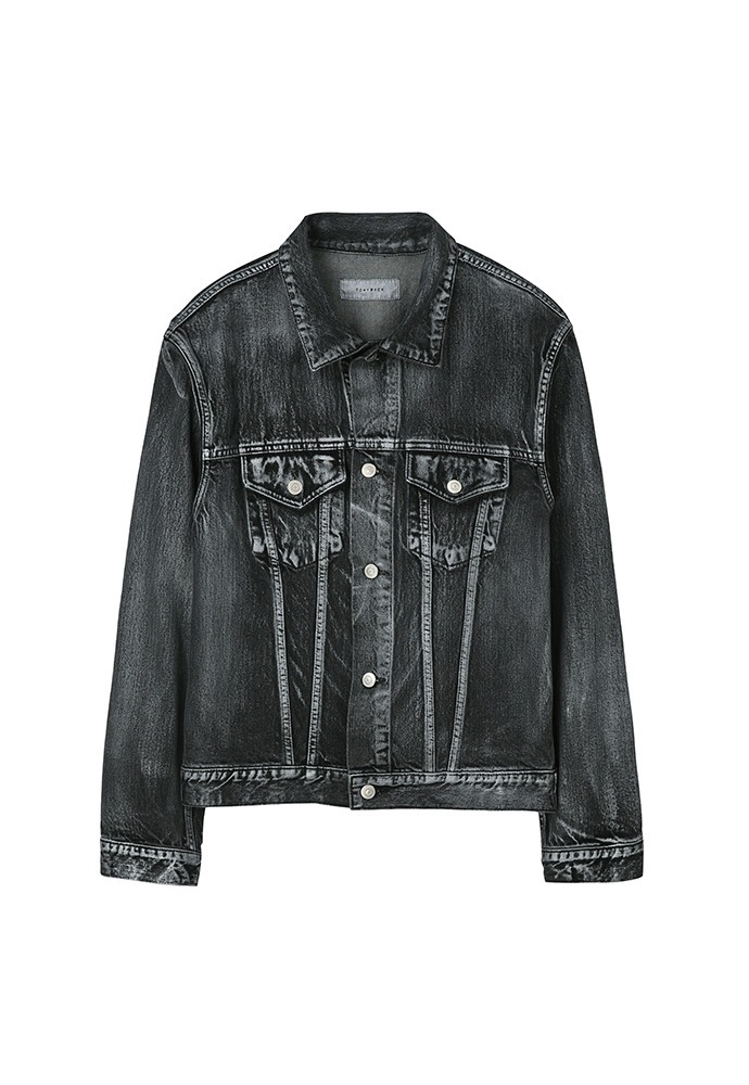 Martin Hand-Painted Denim Jacket_ Black Washing
