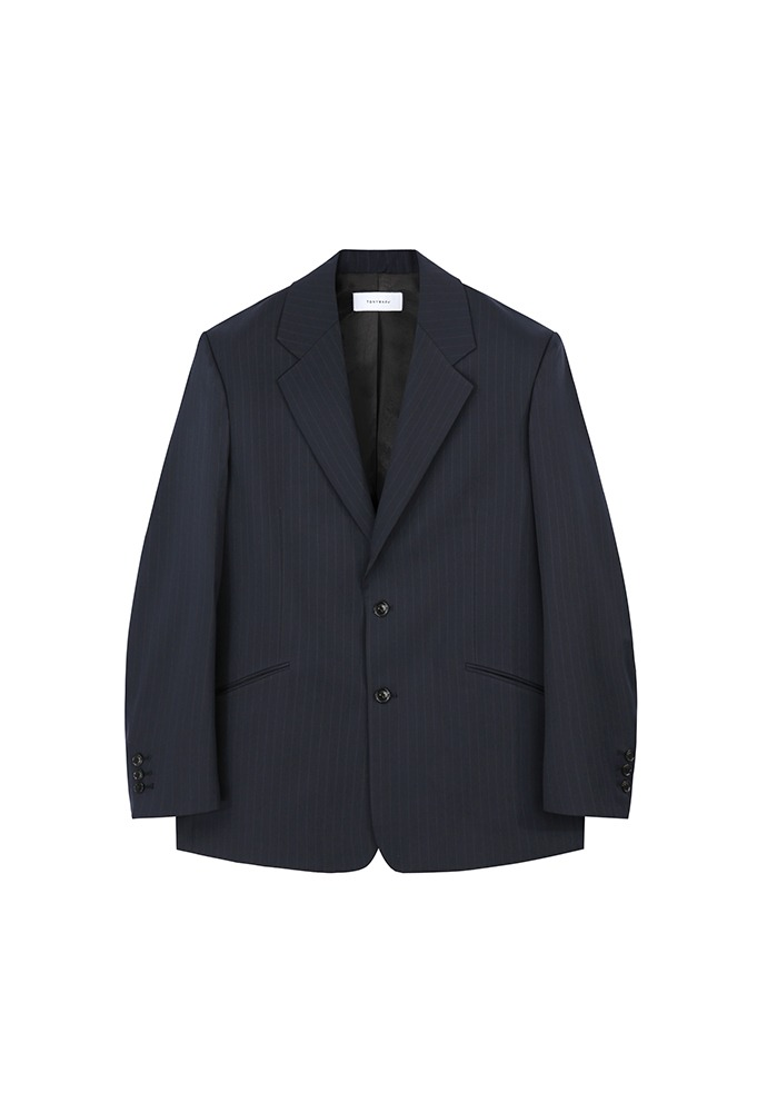 Relaxed-fit Tailored Blazer_ Navy Stripe