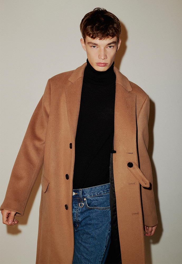 Row Cashmere Single Coat_ Camel